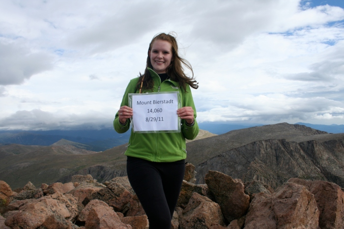 At the summit of Mt. Bierstadt, August 2011