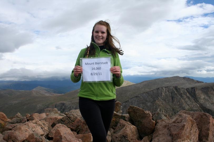 At the summit of Mt. Bierstadt, August 2011