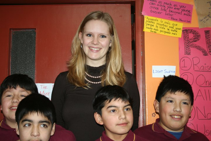 Tia Coleen, with my students on July 8th, 2011