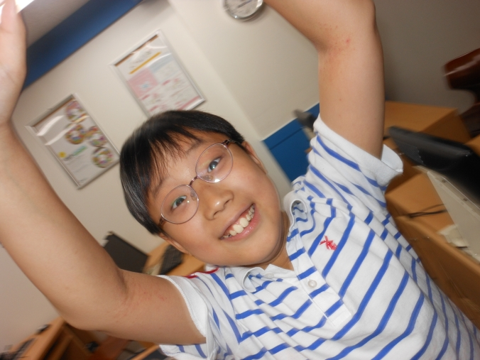 July 10 2012, one of my Korean students.