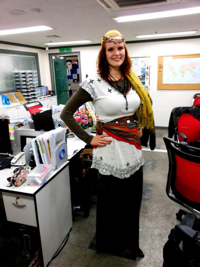 Gyspy Pirate Fortune Teller Teacher, Halloween 2012