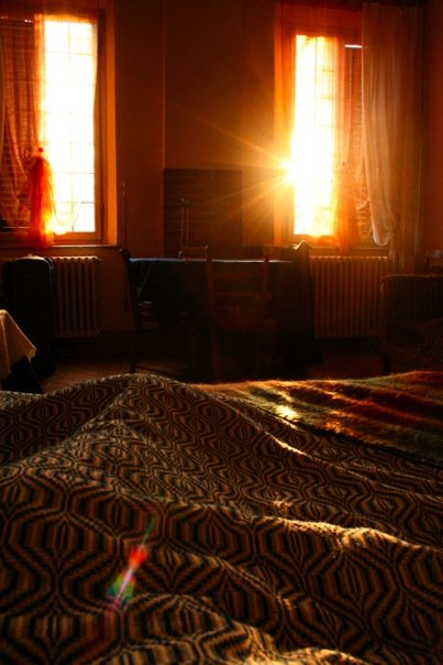 First sunrise in my homestay in Ferrara, January 2009