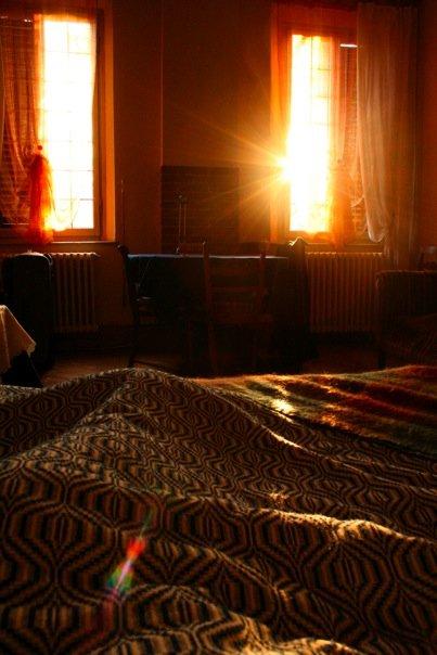 First sunrise in my homestay in Ferrara, January 2009