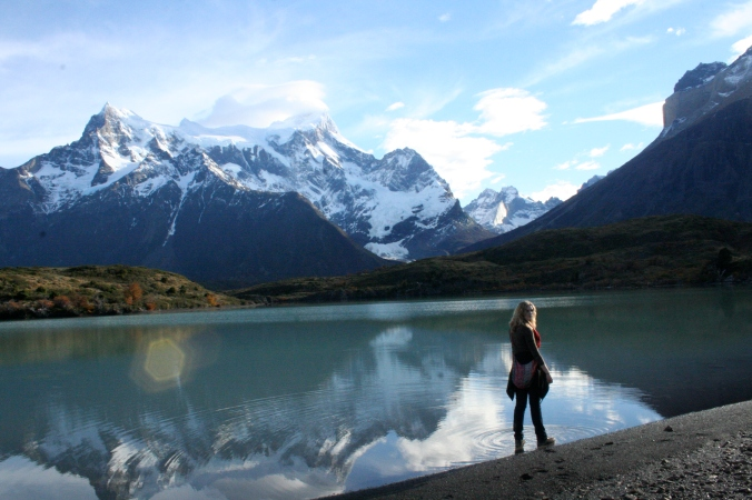 Totally worth it, but not exactly a hospitable landscape in Patagonia