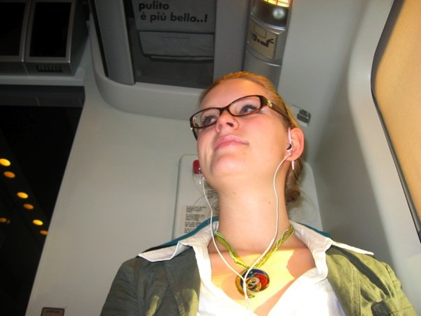 Stolen seat on an Eurostar train, 2009