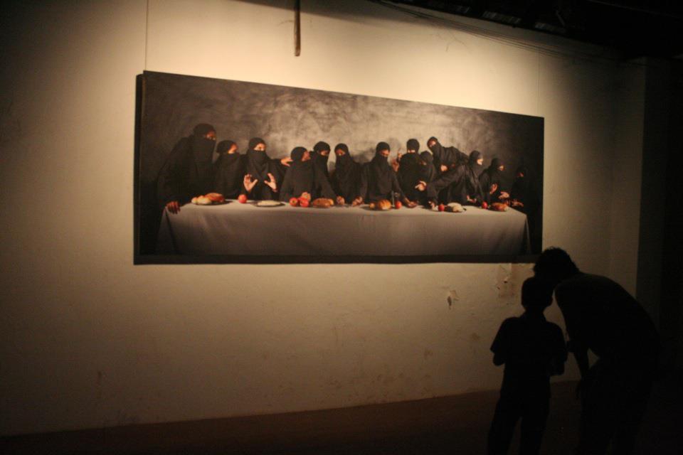 Art installation, Fort Cochin Biennale