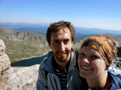 A very nice German woman took our picture at the summit. She did a good job!