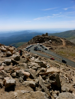 Now, some decided to cheat and drive up the mountain to the summit. Not for us!