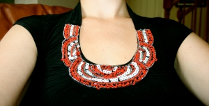 The collar of one of my favourite dresses.