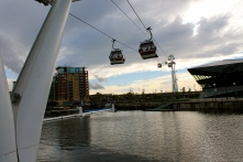 The Emirates Air Line over the Thames