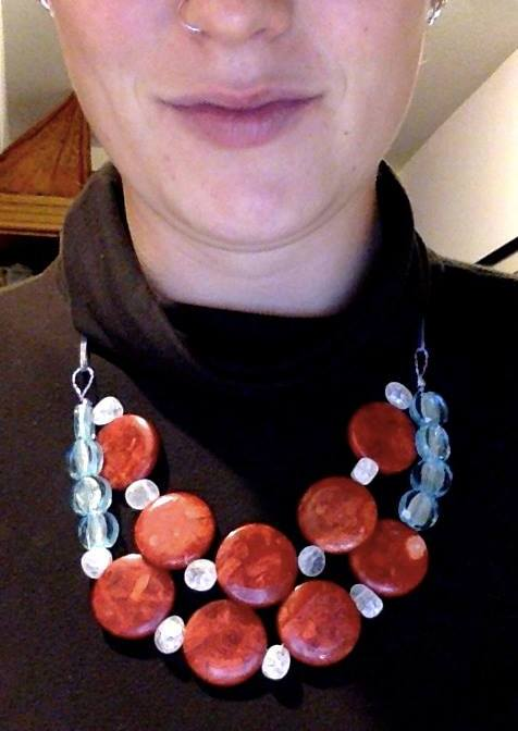 First attempt at a statement necklace