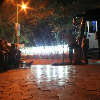 The first of many sleeper buses, Mumbai to Panajim