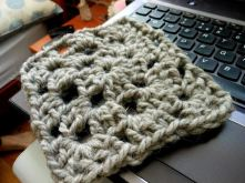 The very first Granny Square for my blanket.