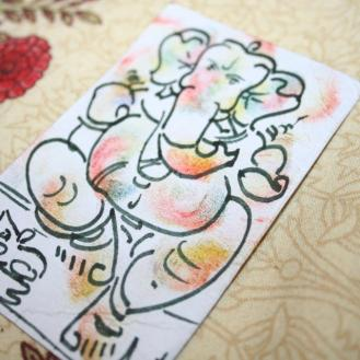 Hand-drawn Ganesh