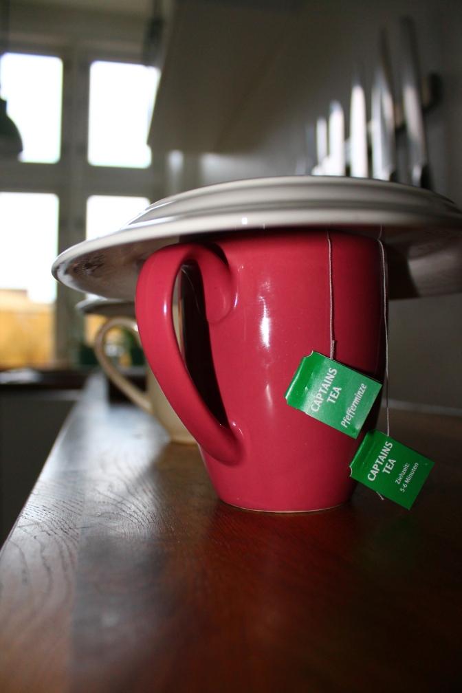 Peppermint tea, extra strong.