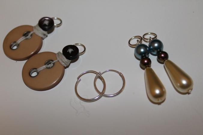 Interchangeable earrings!