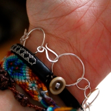 Hand bent and hammered clasp!