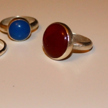 My three finished rings.