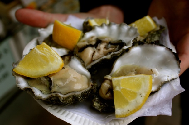 Oysters at Brighton Beach