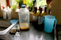 First bottles filled.