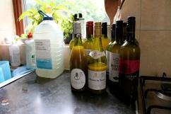 All bottles filled, including our special blend.