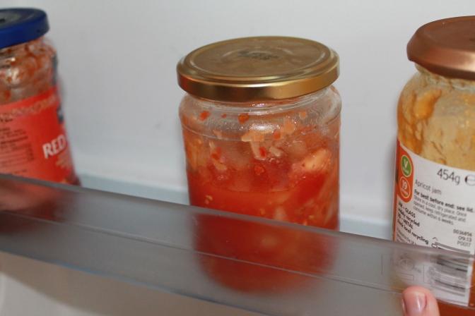 Fridge kimchi salsa