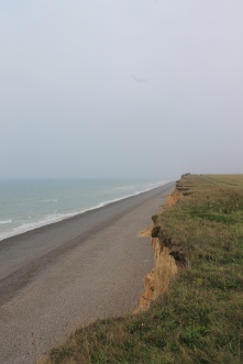 The cliffs, slowly falling into the sea.