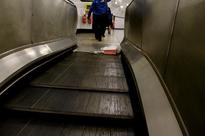 Or on the escalator...