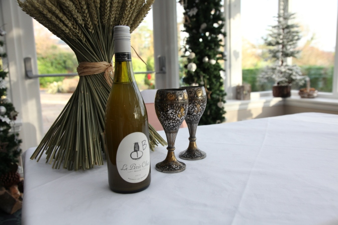 The wedding mead, with antique goblets!