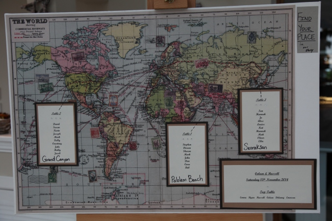 World Map table plan