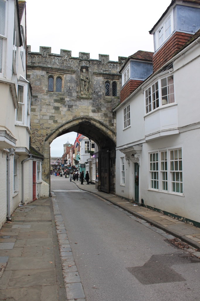 Medieval gate to the cathedral, made with stones moved from Old Sarum