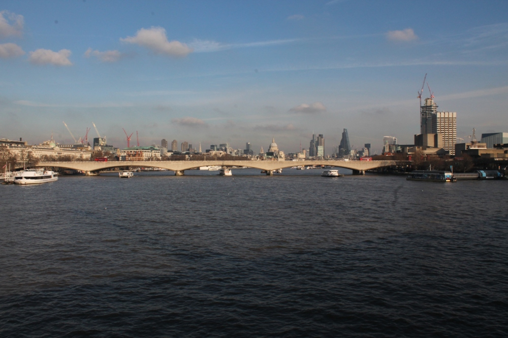 The first view of the Thames I ever had, in April 2013
