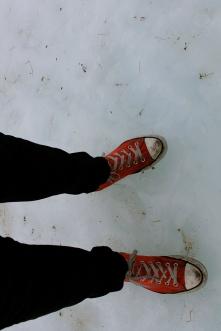 Totally appropriate winter footwear