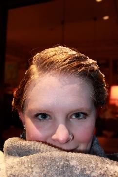 Snowy hair