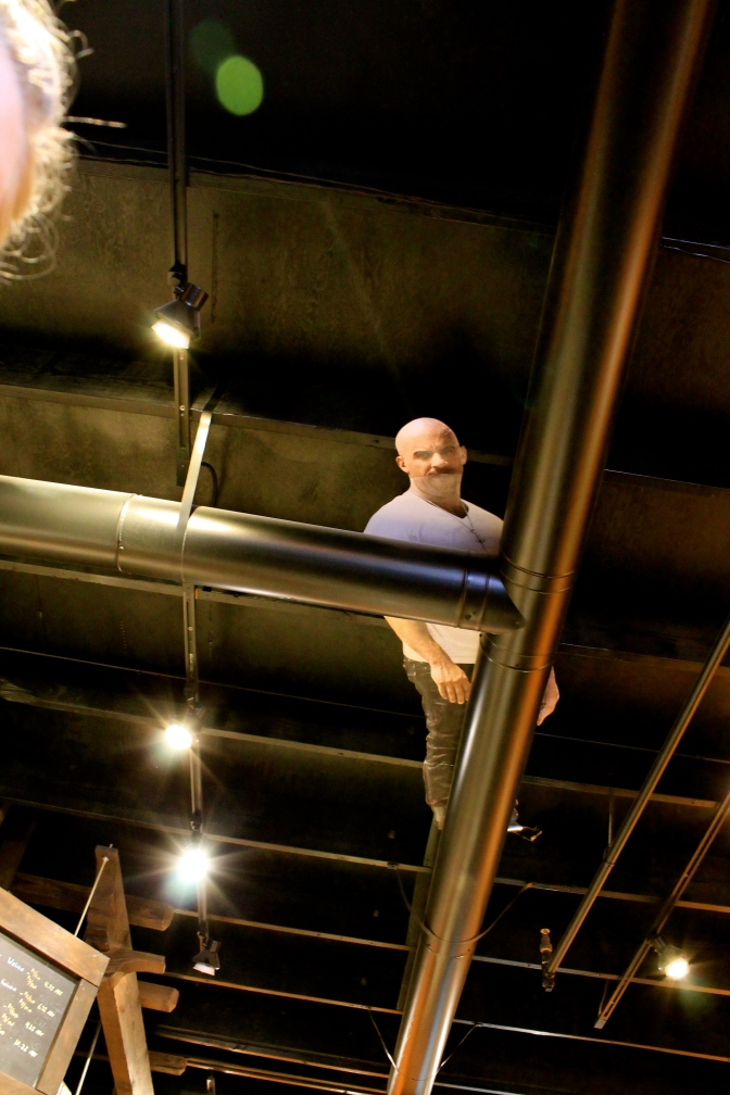 Vin Disel on the ceiling?
