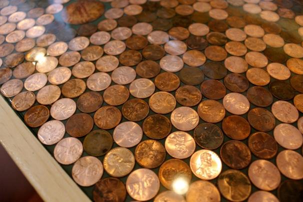 Their beautiful coin bar.