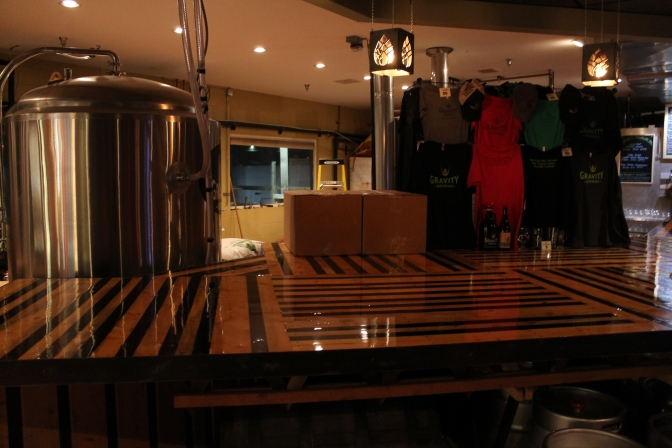 No separation between the brewery and the beer parlour.