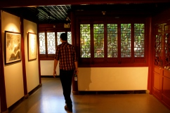 Inside the Taoist calligraphy museum.