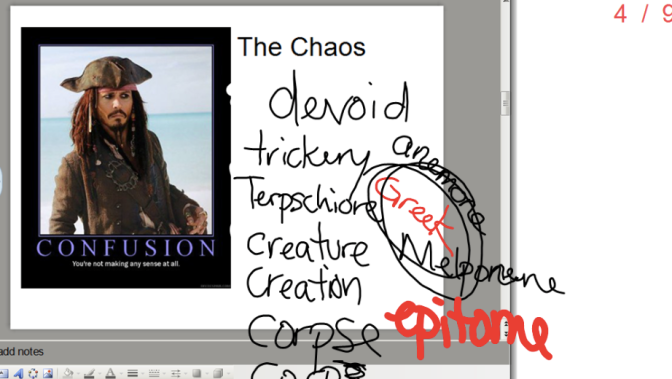 The Chaos, a poem I force my high-level students to read