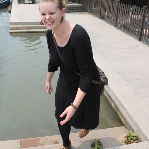 I touched the canal, and didn't die!