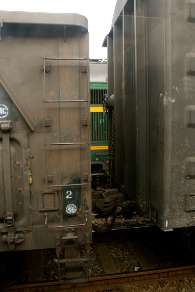Train cars.