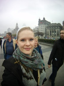 On the Bund with the family!
