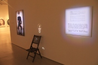 It's a chair. With a projection of a guy talking about a chair.