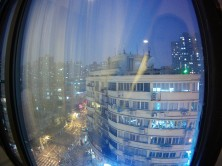 The view from our hotel for Christmas