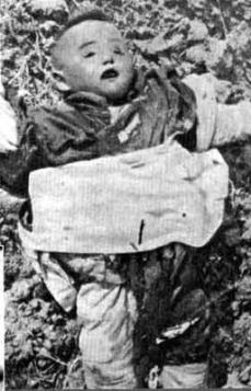A three-year old killed in the Nanjing Massacre
