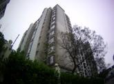 Gray building.