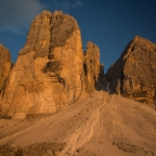 The many painted colours of the Tre Cime di Lavaredo